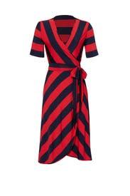 Red Striped Sara Dress by Tory Burch