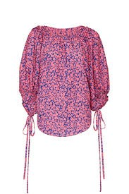 Pink Drawstring Balloon Blouse by Derek Lam Collective
