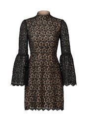 Black Lace Retro Sleeve Sheath by Jill Jill Stuart