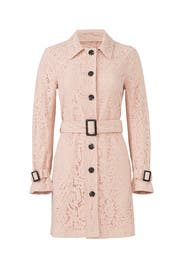 Lace Auretta Trench Coat by cupcakes and cashmere