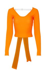 Tech Poly Ribbed Wrap Sweater by Tibi