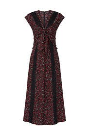 Paisley Tie Front Dress by Thakoon Collective