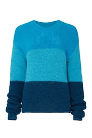 Blue Stripe Ranch Road Sweater by VEDA
