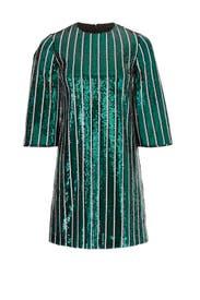 Green Stripe Sequin Sheath by Badgley Mischka