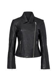 Black Benton Leather Jacket by BB Dakota