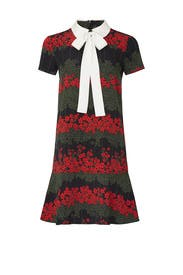 Printed Neck Tie Dress by RED Valentino