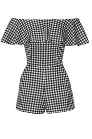 Gingham Ruffle Romper by Slate & Willow