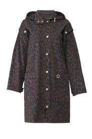 Charcoal Leopard Coat by Proenza Schouler White Label