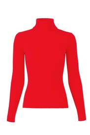 Red Ribbed Turtleneck by 3.1 Phillip Lim