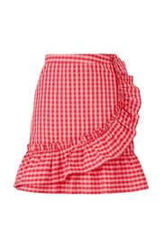 Red Gingham Skirt by Draper James X ELOQUII