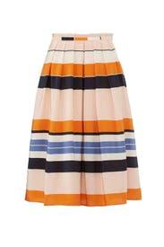 Orange Caitlyn Skirt by L.K. Bennett