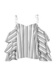 Sophie Ruffle Blouse by AMUR