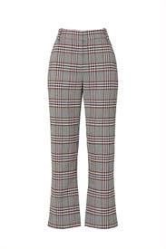 Plaid Straight Leg Trousers by Derek Lam 10 Crosby