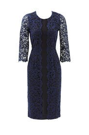 Navy Catherine Dress by ERIN erin fetherston
