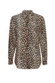 Leopard Slim Signature Shirt by Equipment