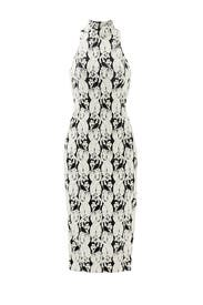 Black and White Lotus Dress by Cushnie