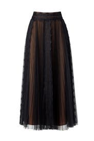 Pleated Tulle Skirt by Marchesa Notte