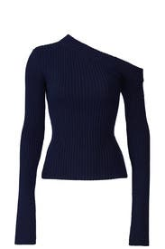 Navy Varese Knit Top by Solace London