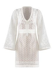 White Cotton Lace Dress by The Kooples