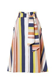 Alibi Striped Shelby Skirt by Tanya Taylor