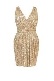 Draped in Gold Dress by Badgley Mischka