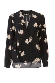 Floral Faux Wrap Blouse by Slate & Willow