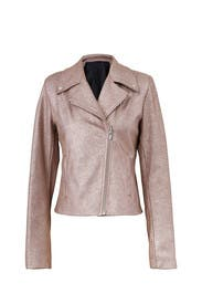 Glitter Leather Jacket by VEDA