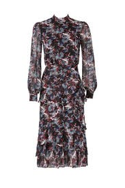 Abstracted Floral Dress by SALONI