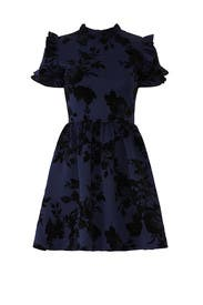 Floral Navy Ruffle Dress by Slate & Willow