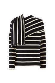 Wrap Scarfed Sweater by Goen. J