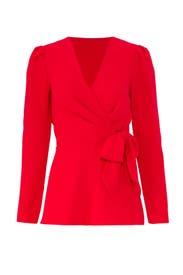 Red Tie Waist Top by Jay Godfrey