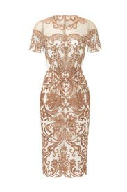 Metallic Jaipur Sheath by Marchesa Notte