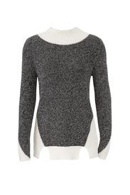 Colorblock Cut Out Hem Sweater by 525 America