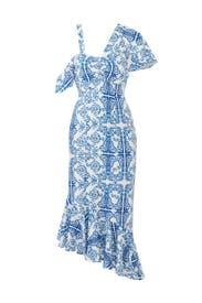 Blue Tile Tavi Dress by Viva Aviva