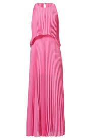 Pink Shaina Pleated Gown by BCBGMAXAZRIA