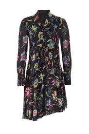 Black Jungle Flower Dress by Jason Wu Collection
