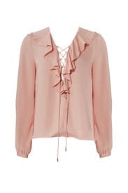 Pale Orchid Ruffle Top by L'Academie