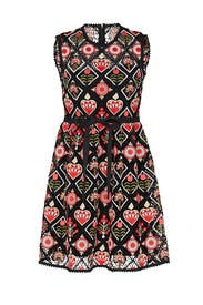 Floral Heart Embroidered Dress by RED Valentino