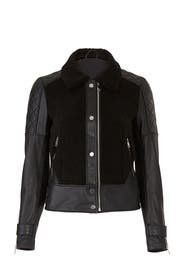 Faux Sherpa Leather Jacket by Slate & Willow