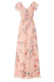 Floral Gwen Gown by Monique Lhuillier Bridesmaid