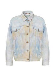 Blue Tie Dye Denim Jacket by Free People