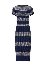 Ribbed Flare Hem Dress by Becken