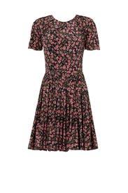 Pink Floral Printed Dress by The Kooples