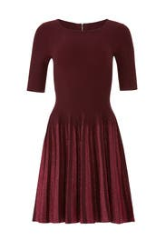 Lurex Pleated Dress by Milly