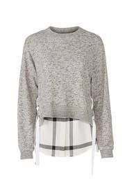 Charcoal Duo Sweatshirt by Derek Lam 10 Crosby