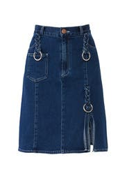 Braided Denim Skirt by See by Chloe