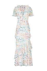 Multi Polka Dot Maxi by ML Monique Lhuillier