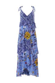 Lavender Patchwork Wrap Dress by Fuzzi