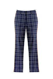 Slate & Willow - Navy Plaid Trousers