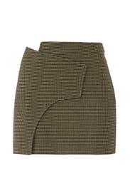 Wrap A-Line Mini Skirt by Derek Lam 10 Crosby